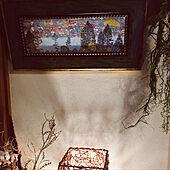 クリムトのアートパネル/クリムト/アートのある暮らし/籐のランプシェード/壁/天井のインテリア実例 - 2021-09-26 22:37:46