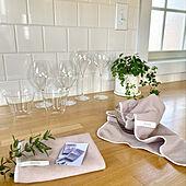 キッチンタイル/キッチンカウンター/ワインのある生活/木村硝子/ワイングラス...などのインテリア実例 - 2021-09-24 11:41:18