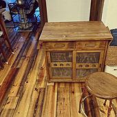 キッチン収納/リノベーション/無垢材の床/古道具が好き/中古を買ってリノベーション...などのインテリア実例 - 2021-02-15 17:21:26