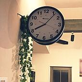 梁/フェイクグリーン/両面時計/壁/天井のインテリア実例 - 2020-10-14 23:30:02