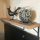 コレ、DIYしたよ!/棚板DIY/棚/鳥のオブジェ/サボテン...などのインテリア実例 - 2021-05-06 08:23:37