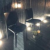 ランタン照明/モニター当選/ガーデンチェア/ウッドデッキのある暮らし/夜の庭で...などのインテリア実例 - 2021-04-11 01:15:48