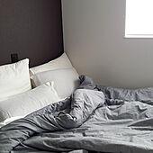 ベッド周り/グレーインテリア/シンプルホーム/グレーの家/シンプルライフ...などのインテリア実例 - 2021-05-16 12:09:51