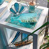 ステンドグラス/モザイクガラス/ガラス好き/ブルー好き/ビーチスタイル...などのインテリア実例 - 2021-09-11 15:12:44