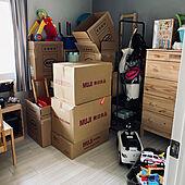 引っ越し前/絶賛引っ越し準備中/部屋全体/子供部屋のインテリア実例 - 2021-08-05 06:42:33