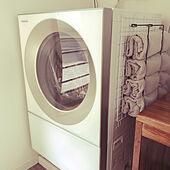 洗濯機/洗濯機まわりの収納/3coins♡/100均雑貨/無印良品 収納...などのインテリア実例 - 2021-05-26 10:45:58