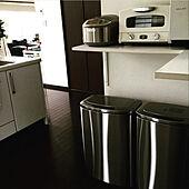キッチンのゴミ箱/ウォールナット/男前/ブラウンインテリア/キッチンのインテリア実例 - 2020-10-31 05:56:04