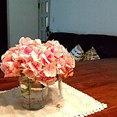 机/フォローありがとうございます♡/花のある暮らし/いいね♪いつもありがとうございます❤️/紫陽花...などのインテリア実例 - 2021-05-22 07:22:14