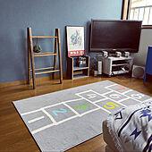 ラダーDIY/子供部屋男の子/青い壁紙/こどもと暮らす。/バイク好き...などのインテリア実例 - 2021-05-17 17:46:39