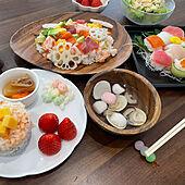 チラシ寿司/ひな祭りごはん/初節句/ひな祭り/子供と暮らす...などのインテリア実例 - 2021-03-03 20:24:55