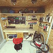バイクガレージのある家/模様替え中/中型免許/バイクガレージDIY/バイクガレージ...などのインテリア実例 - 2021-04-18 21:13:01