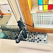 ガラスブロック/ステンドグラス手作り/水栓固定/ガラスタイル/ガラス大好き...などのインテリア実例 - 2021-07-07 13:35:03