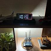 デジタル時計/壁/天井のインテリア実例 - 2021-06-19 01:11:27