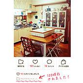 吊り棚リメイク/食器棚リメイク/100保存ありがとうございます/L字カウンターDIY/なんちゃってアイランドキッチン...などのインテリア実例 - 2020-10-21 14:43:23