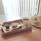 ウェッジウッドマグ/スリーコインズ♡/お茶セット/好きなものに囲まれた暮らし/かご大好き♡...などのインテリア実例 - 2021-02-05 18:34:06