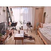 電気ブランケット/一人暮らしインテリア/ワンルーム/賃貸/花のある暮らし...などのインテリア実例 - 2021-02-25 20:16:59