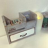置き物/マスキングテープ収納/マスキングテープ/クラフト市で購入/ホワイトインテリア...などのインテリア実例 - 2021-04-14 11:56:15