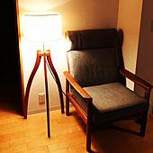 夏の夜/ハイバックチェア/間接照明/スタンドライト/マンション暮らし...などのインテリア実例 - 2021-08-02 20:16:30