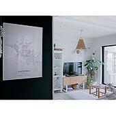 ポスターのある暮らし/DIY棚/DIY TVボード/モロッコインテリア/植物のある暮らし...などのインテリア実例 - 2021-06-20 18:32:01