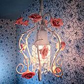 可愛いシャンデリア/お花のシャンデリア/照明/お花のランプ/素敵なランプ...などのインテリア実例 - 2021-02-21 00:24:17