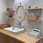 落ち着くスペース/ゆっくりな時間/掃除しやすく/洗面所/棚のインテリア実例 - 2021-07-28 11:35:43