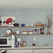 棚/飾り棚/ブルーグレーの壁紙/植物のある暮らし/建売...などのインテリア実例 - 2021-04-02 11:19:06