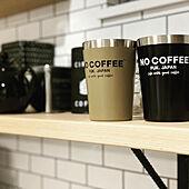 サブウェイタイル風壁紙/コーヒー/コーヒーのある暮らし/カフェ/キッチン背面...などのインテリア実例 - 2021-08-05 23:58:51