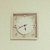 アフタヌーンティーの時計/RoomClipアンケート/一人暮らし/壁/天井のインテリア実例 - 2020-04-08 17:46:21