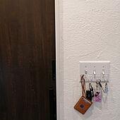 玄関/入り口/鍵収納/鍵置き場/フック/玄関...などのインテリア実例 - 2021-02-18 14:42:01