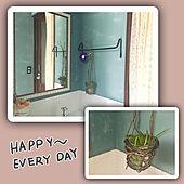 トイレなのにカーテン/グローエ水栓/アイアンのタオルバー/モザイクタイル/だんな様の作品...などのインテリア実例 - 2021-05-10 15:48:18