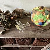 おもちゃ収納/りんご箱/子供の作品/ドライフラワー/ニトリバスケットたてハーフ...などのインテリア実例 - 2021-04-18 20:04:06