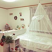 ホワイトインテリア/ベッド周り/クリスマス/ベッド/可愛い...などのインテリア実例 - 2021-01-13 18:29:44
