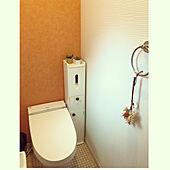 トイレのクロス/トイレの壁/トイレ/狭小3階建/狭小住宅...などのインテリア実例 - 2021-01-19 15:27:29