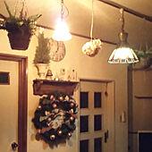 リビング/クリスマス/フェイクグリーン/トールペイント/無印鳩時計...などのインテリア実例 - 2020-11-12 21:25:16