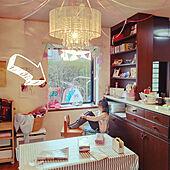 こどものいる暮らし/絵画のある生活/シャンデリア/アートのある暮らし/絵画のある部屋...などのインテリア実例 - 2021-09-17 08:45:59