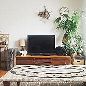 ガジュマル/観葉植物/エバーフレッシュ/TVボード/花台...などのインテリア実例 - 2020-04-01 16:22:09
