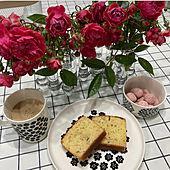 試験管風花器/テーブルクロス/ダルトンフラワーベース/アールグレイのケーキ/マリメッコ プケッティ...などのインテリア実例 - 2021-05-11 15:29:56