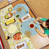 コルクタイルの床/bocomceptのテーブル/boconcept/つまみ/そうめん...などのインテリア実例 - 2021-07-11 10:59:41