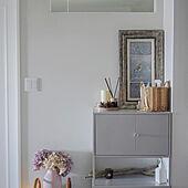 リックスフルト/キャビネット/IKEAの棚/IKEA/玄関ディスプレイ...などのインテリア実例 - 2021-04-11 17:24:40