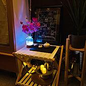 夜のライティング/花のある暮らしに憧れる/見てくれてうれしいです(๑•̀ㅁ•́ฅ✧/いいね!ありがとうございます◡̈♥︎/フォロワー様に感謝です !...などのインテリア実例 - 2021-09-20 23:01:19