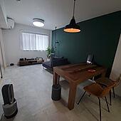 リビング/お気に入りのカラー/ダイニングチェア/壁紙DIY/椅子...などのインテリア実例 - 2021-06-13 22:27:36