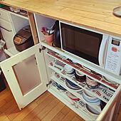 大量収納/diyカウンターの裏側/カウンターテーブル/お気に入り♡/DIY...などのインテリア実例 - 2021-06-19 11:14:35