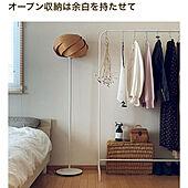 mag掲載ありがとうございます/かご収納/IKEAハンガーラック/衣類の収納/棚...などのインテリア実例 - 2021-05-08 16:26:02