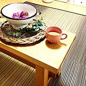 朝のコーヒータイム/リビングのカフェテーブルにしてます/IKEA ベンチ/秋晴れ/令和元年11月4日...などのインテリア実例 - 2019-11-04 09:36:54
