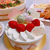 ひな祭り/桃の節句/ケーキ/ナチュラル/見てくれてありがとうございます♡...などのインテリア実例 - 2021-03-04 10:29:23