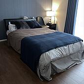 間接照明/ベッド/ベッドルーム/アクセントクロス/ネイビー...などのインテリア実例 - 2021-10-19 20:53:46