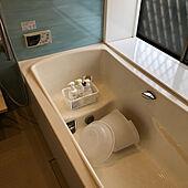 お風呂小物置き場/シャンプー置き場/お風呂水垢対策/お風呂掃除/100均...などのインテリア実例 - 2021-03-08 11:09:44