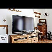 コンソールチェスト/チキンネットのシェルフ/テレビボード/モールガラスの扉/リメイク...などのインテリア実例 - 2013-09-05 17:45:19