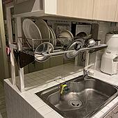 業務用ステンレスパイプラック/キッチン/IKEA/水切り/キッチンのインテリア実例 - 2021-06-17 01:19:39