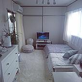 ベッド周り/ホワイト/IKEAチェスト/テレビ台/テレビ...などのインテリア実例 - 2021-04-27 14:38:28